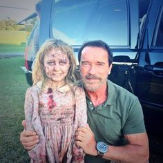 Arnold at Maggie, Zombie Movie!