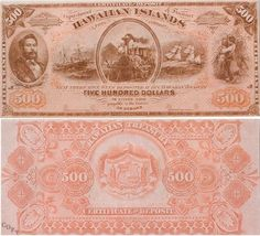 Hawaiian Islands Money Notes, Gold And Silver Coins, Old Money, Vintage Nautical, Cultural Events, Rare Coins, People Of The World, Coin Collecting, Historical Photos