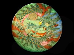 Image Copyright RC Larner ~ Better on Black Large 19th C. Japanese Satsuma Dragon in Vibrant Hues  ~ R C Larner Buttons at eBay & Etsy        http://stores.ebay.com/RC-LARNER-BUTTONS