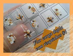 Flor carga dupla com risquinhos #4