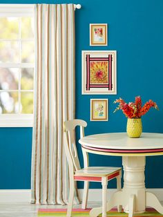 Use ribbon to dress up picture frame mats and window treatments.