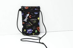 Smartphone passport case in Black and multi colored School by JoyInTheBag on Etsy