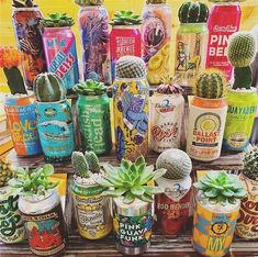 Portative Soda Can Planters: The Irresistible Power Of Recycling - Unique Balcony & Garden Decoration and Easy DIY Ideas Indie Room Decor, Cute Bedroom Decor, Aesthetic Room Decor, Monster Crafts, Home And Deco, Plant Decor, Garden Inspiration, Garden Ideas, Indoor Plants