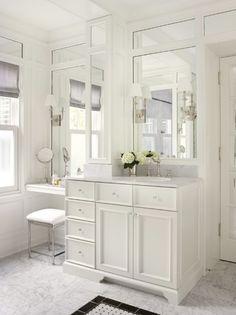 25 Traditional Bathroom Design Ideas | White master bathroom, Small ...