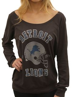 NFL Detroit Lions Junk Food Off Shoulder Long Sleeve Raglan.....I wants it(: