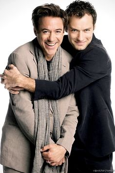 ♂ Manhood. We are like brothers. Robert Downey Jr. & Jude Law