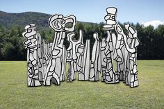 """Jean Dubuffet - Theatre aux arbres, 1969-. Polyurethane paint on polyester and epoxy, 27' 6-3/4"""" x 25' x 17' 8-5/8"""" (8.4 m x 7.62 m x 5.4 m)."""