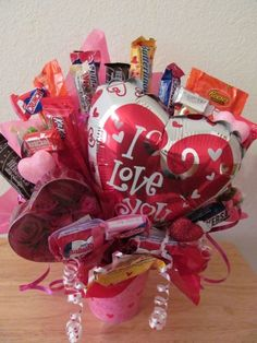 Valentine Candy Bouquet $20.00