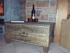 Shabby Alte Frachtkiste Couchtisch Holzkiste Truhe Tisch Vintage Wein Wohnen