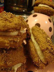 Vegan Soft Banana Cookie Sandwiches