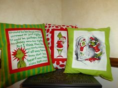 How the GRiNCH Stole Christmas PiLLOWS