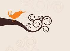 swirly bird - a good quilling pattern!