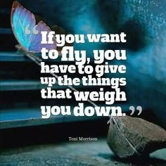 Minimalism: If you want to fly, you have to give up the things that weigh you down.