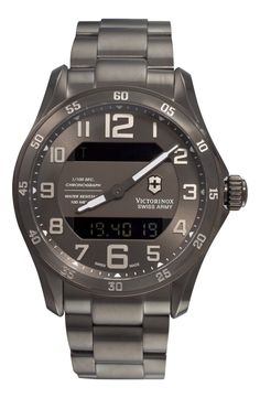 Victorinox Swiss Army Men's 241300 Chrono Classic XLS MT Quartz Gunmetal watch