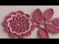 Как вязать цветок с витыми блок столбиками.Урок вязания крючком. - YouTube
