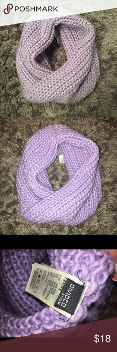 Purple knit scarf Infinity scarf. Excellent condition, not worn much! Very very pretty color Accessories Scarves & Wraps