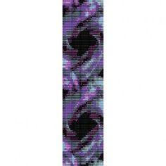 PURPLE PASSION  - LOOM beading pattern for cuff bracelet FINAL SALE! 50% OFF!