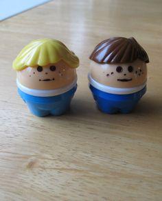 Little Tikes Toddle Tots Vintage Boy Brown Hair & Girl Blonde Hair