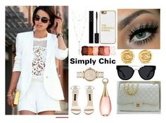 """""""Simply chic"""" by susanazizumbo on Polyvore featuring Forever New, House of Harlow 1960, Michael Kors, Quay, Chanel, BaubleBar, Gucci, NYX and Christian Dior"""