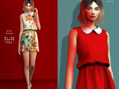 The Sims Resource: Elle dress by serenity-cc • Sims 4 Downloads