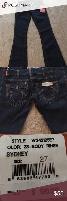 👖True Religion Jeans Size 27X33 1/2👖 True Religion Flare Jeans. NWT True Religion Jeans Flare & Wide Leg
