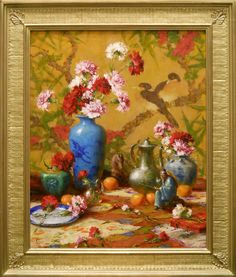 Robert Johnson   Carnations  Oil - 30 by 24 Inches  $7,500#trailsidegalleries #mothersday #paintings #art