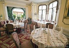 A classic dining room in a vintage hotel.  <a href='http://www.dreamstime.com/interiors-rcollection4789-resi208938' STYLE='font-size:13px; text-decoration: blink; color:#FF0000'><b>MY INTERIORS COLLECTION »</b></a>