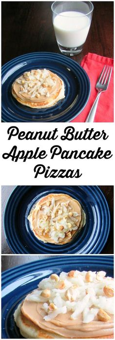 Peanut Butter Apple Pancakes are sure to be a hit at your breakfast table.  They are quick, easy and delicious too!