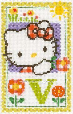 Hello Kitty Letter V