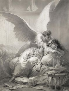 "Mihaly von Zichy (1827-1906), ""Angel Whispering to an Odalisque"" 