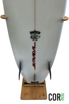 Our wooden surfboard stand is eco-friendly and works with any size boards - short boards, long boards and more.