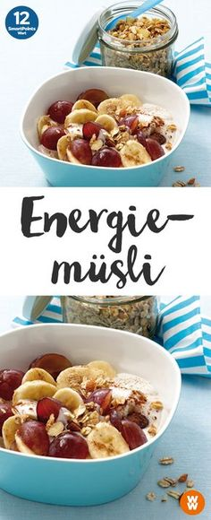 Energiemüsli | 12 SmartPoints/Portion, Weight Watchers, Frühstück, in 10 min. fertig