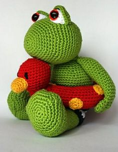 Ravelry: frog Karel pattern by Christel Krukkert. Free pattern $ 3,00.  [per previous pinner]
