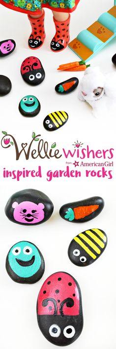 Make your own WellieWishers from American Girl-inspired garden rocks with this kid-friendly craft!