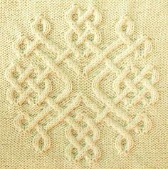 Ravelry: Celtic Snowflake (#30) pattern by Devorgilla's Knitting-good idea for a cushion  Sayyed Sayyed Shahid