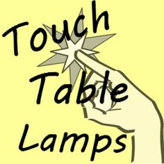 Instead of fumbling around for a light switch, your finger will turn these touch table lamps on. Touch Table Lamps, Finger, Decor, Decoration, Fingers, Decorating, Deco, Embellishments, Toe