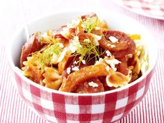 Voor fans van pittig - Libelle Lekker! Pasta, Chorizo, Risotto, Macaroni And Cheese, French Toast, Breakfast, Ethnic Recipes, Fans, Morning Coffee