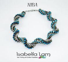 NIBA NIB BIT  Beadwork Necklace Spiral Pdf tutorial
