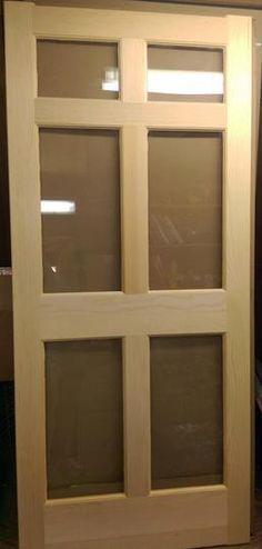 Regal T Bar Wood Swinging 6 Panel Glass Storm Door 36 I