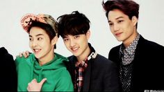 EXO - My Biases Xiumin, D.O.well it seems I found one with Kai but, I lost Luhan and still no Chanyeol or Lay:)