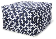 &99 One Kings Lane - Grab a Seat - Links Outdoor Ottoman, Navy