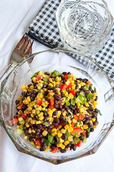Black Bean and Corn Salad | Never Enough Thyme - Recipes and food photographs with a slight southern accent.