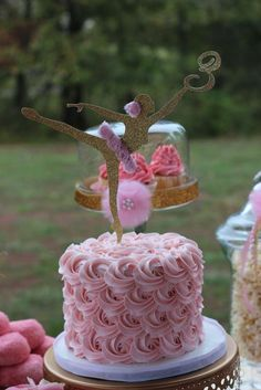 Pink & Gold Ballerina Birthday Party Ideas | Photo 9 of 21 | Catch My Party