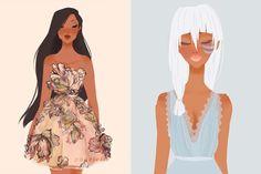 Princesas da Disney usando lindos vestidos de estilistas famosos | Disney Curiosa