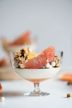 Citrus & Coconut Panna Cotta with Coconut Cashew Granola | Now, Forager | Teresa Floyd