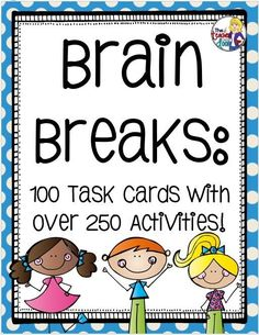You can find lots of research that clearly shows that brain breaks increase academic achievement, help with concentration, boost on-task behavior, improve student attitudes...but actually, you can walk into any elementary classroom, on any day and see for yourself. Kids need brain breaks like teachers need chocolate...every day...the more often,...