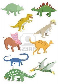 漫画恐竜アイコン ストックフォト - 8579322