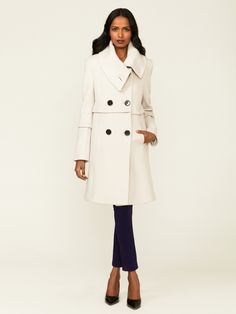 Elie Tahari | Wool Double-Breasted Coat