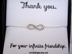 Best friend gift,BFF,Infinity bracelet with Friendship Quote,best friend Infinity Bracelet  Card Set,Bracelet for friend,friendship cardset