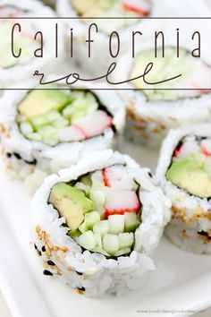 It's easy to make your own California Roll at home! California Rolls contain crab, avocado and cucumber for a fresh and delicious meal or appetizer idea! #ad